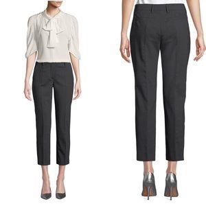 Prada Charcoal Gray Wool Blend Cropped Pants